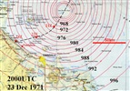 Cyclone Althea, 1971: mean sea level analysis 23 Dec